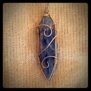 Handmade silver with Kyanite pendant